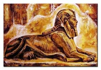 """Obraz """"Egipt"""" ręcznie malowany 60x90cm"""
