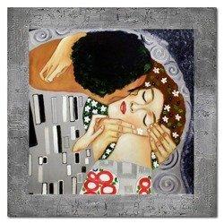 """Obraz """"Gustaw Klimt"""" ręcznie malowany 78x78cm"""