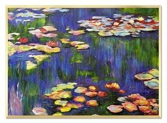 """Obraz """"Impresjonisci"""" ręcznie malowany 53x73cm"""