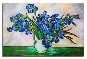 """Obraz """"Impresjonisci"""" ręcznie malowany 60x90cm"""