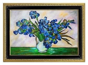 """Obraz """"Impresjonisci"""" ręcznie malowany 75x105cm"""