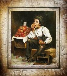 """Obraz """"Inni"""" ręcznie malowany 35x40cm"""
