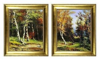 """Obraz """"Iwan Iwanowicz Szyszkin """" ręcznie malowany 54x64cm x 2"""
