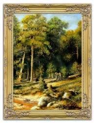 """Obraz """"Iwan Iwanowicz Szyszkin """" ręcznie malowany 63x84cm"""