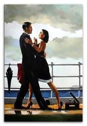 """Obraz """"Jack Vettriano"""" ręcznie malowany 60x90 cm"""