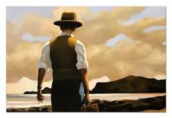 """Obraz """"Jack Vettriano"""" ręcznie malowany 60x90cm"""