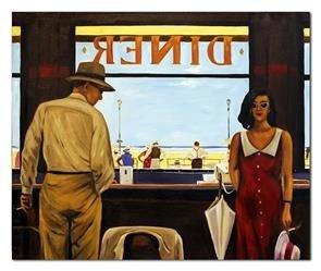 """Obraz """"Jack Vettriano"""" ręcznie malowany 75x90cm"""