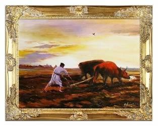 Obraz - Józef Chełmoński - olejny, ręcznie malowany 37x47cm