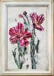"""Obraz """"Kolaż olejny"""" ręcznie malowany 38x55cm"""