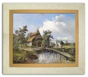 """Obraz """"Krajobrazy"""" reprodukcja 27x32cm"""