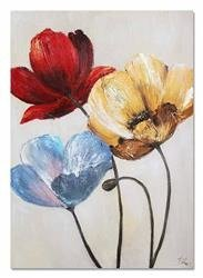 """Obraz """"Kwiaty nowoczesne"""" ręcznie malowany 50x70cm"""