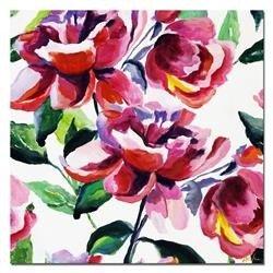 """Obraz """"Kwiaty nowoczesne"""" ręcznie malowany 60x60 cm"""