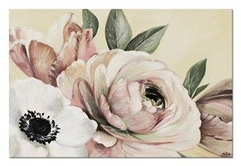 """Obraz """"Kwiaty nowoczesne"""" ręcznie malowany 60x90cm"""