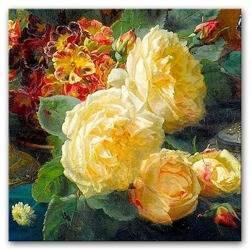 """Obraz """"Kwiaty"""" reprodukcja 30x30 cm"""