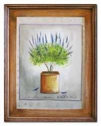 """Obraz """"Lawenda."""" ręcznie malowany 37x47cm"""