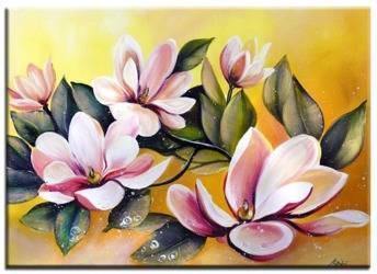 """Obraz """"Lilie"""" ręcznie malowany 50x70cm"""