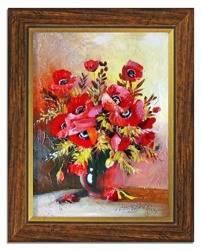 Obraz - Maki - olejny, ręcznie malowany 37x47cm