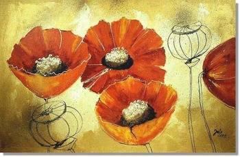 Obraz - Maki - olejny, ręcznie malowany 50x70cvm