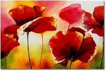 Obraz - Maki - olejny, ręcznie malowany 60x90cm