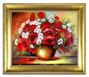 """Obraz """"Maki"""" ręcznie malowany 54x63cm"""