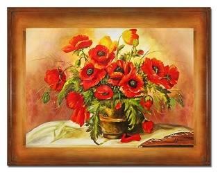 """Obraz """"Maki"""" ręcznie malowany 72x92cm"""