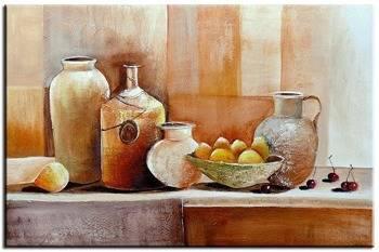 Obraz - Martwa natura nowoczesna - olejny, ręcznie malowany 60x90cm