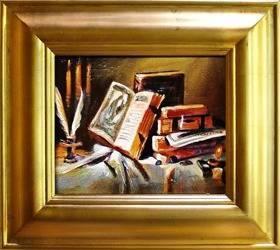 Obraz - Martwa natura tradycyjna - olejny, ręcznie malowany 43x48cm