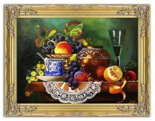 Obraz - Martwa natura tradycyjna - olejny, ręcznie malowany 64x83cm