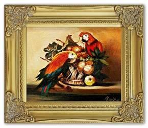 """Obraz """"Martwa natura tradycyjna"""" ręcznie malowany 26x31cm"""