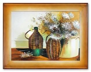 """Obraz """"Martwa natura tradycyjna"""" ręcznie malowany 72x92cm"""