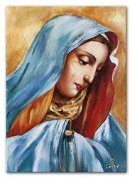 """Obraz """"Maryja"""" ręcznie malowany 60x90cm"""