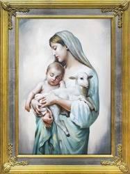 """Obraz """"Maryja"""" ręcznie malowany 68x88cm"""
