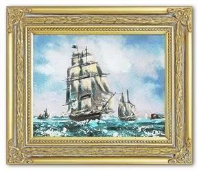 """Obraz """"Marynistyka"""" ręcznie malowany 27x32cm"""