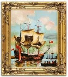 """Obraz """"Marynistyka"""" ręcznie malowany 53x63cm"""