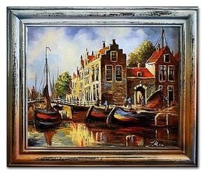 """Obraz """"Marynistyka"""" ręcznie malowany 53x64cm"""