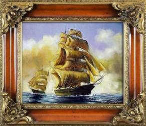 """Obraz """"Marynistyka"""" ręcznie malowany 65x75cm"""