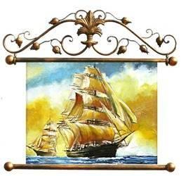 """Obraz """"Marynistyka"""" ręcznie malowany 84x95cm"""