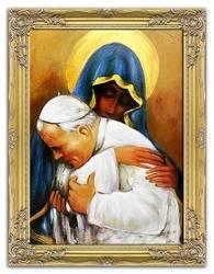 """Obraz """"Papież Jan Paweł II"""" ręcznie malowany 63x84cm"""