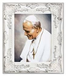 """Obraz """"Papież Jan Paweł II"""" ręcznie malowany 66x76cm"""