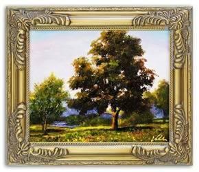 Obraz - Pejzaz tradycyjny - olejny, ręcznie malowany 27x32cm