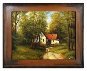Obraz - Pejzaz tradycyjny - olejny, ręcznie malowany 37x47