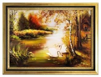 Obraz - Pejzaz tradycyjny - olejny, ręcznie malowany 75x105cm