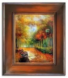 """Obraz """"Pejzaz tradycyjny"""" ręcznie malowany 66x76cm"""