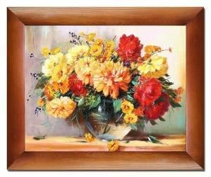 """Obraz """"Piwonie"""" ręcznie malowany 54x64cm"""