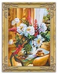 """Obraz """"Piwonie"""" ręcznie malowany 65x85cm"""