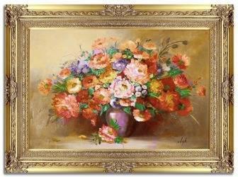 """Obraz """"Piwonie"""" ręcznie malowany 91x121cm"""