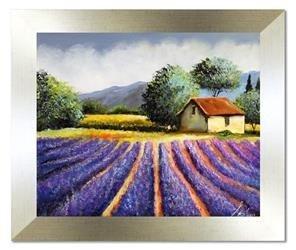 """Obraz """"Pola lawendowe"""" ręcznie malowany 58x68cm"""