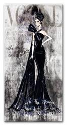 """Obraz """"Retro Lady"""" reprodukcja 90x45 cm"""