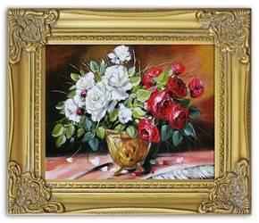 Obraz - Roze - olejny, ręcznie malowany 27x32cm
