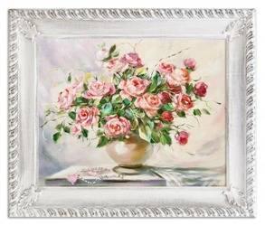 """Obraz """"Roze"""" ręcznie malowany 54x64cm"""